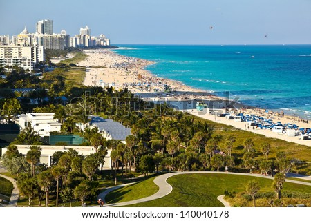 South Beach, Miami, Florida - stock photo
