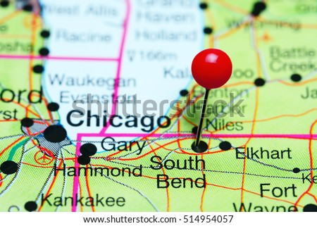 South Bend Stock Images RoyaltyFree Images Vectors Shutterstock - South bend indiana map