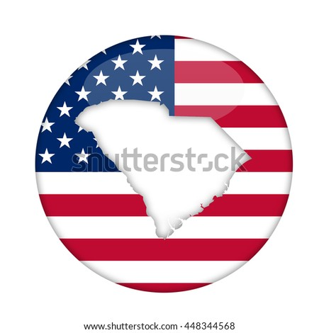 South Carolina state of America badge isolated on a white background. - stock photo