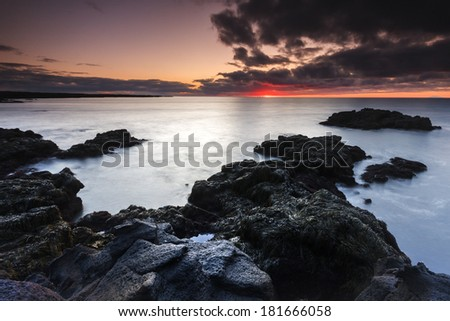 South coast of Iceland North Atlantic Ocean/Oceanic sunset