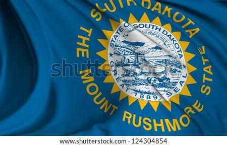 South Dakota flag - USA state flags collection no_3 - stock photo