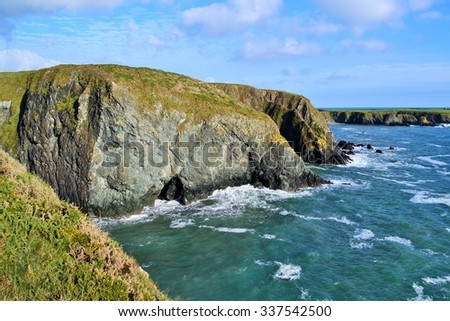 South East coastal drive, Waterford, Ireland - stock photo