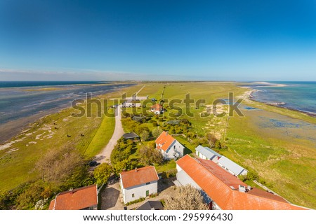 South end of the Swedish island of Oland in summer - stock photo