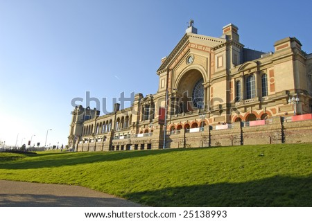 South facade of Alexandra Palace in London, England