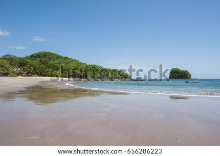 South facing beach landscape of Bahia de Los Piratos, Costa Rica