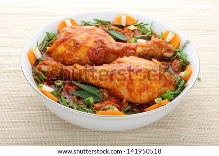 South Indian chiken curry - stock photo