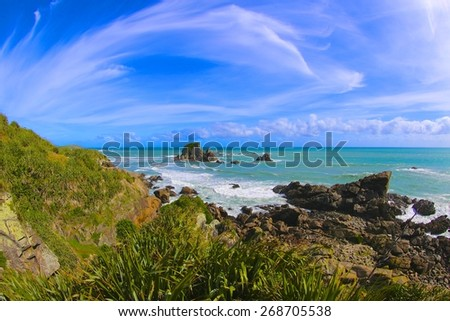South Island of New Zealand - stock photo