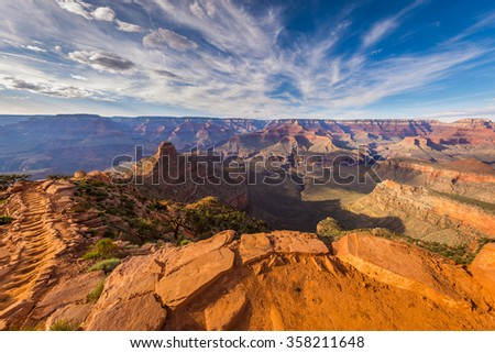 SOUTH KAIBAB TRAIL---South Rim, Grand Canyon - stock photo