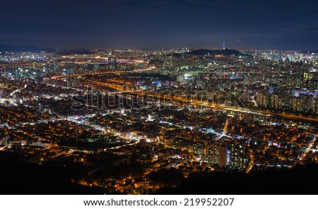 South Korea  at night