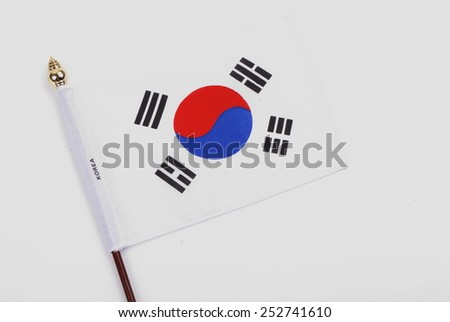 South Korea flag - stock photo