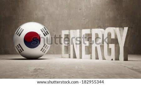 South Korea High Resolution Energy  Concept - stock photo