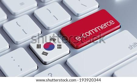 South Korea High Resolution Keyboard Concept - stock photo