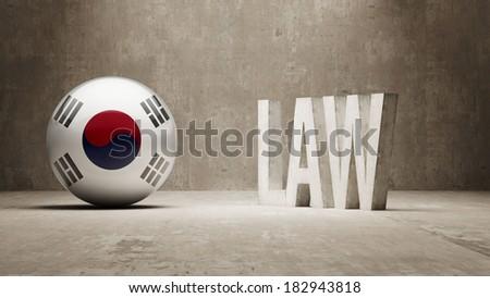 South Korea High Resolution Law Concept - stock photo