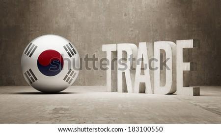 South Korea High Resolution Trade Concept - stock photo