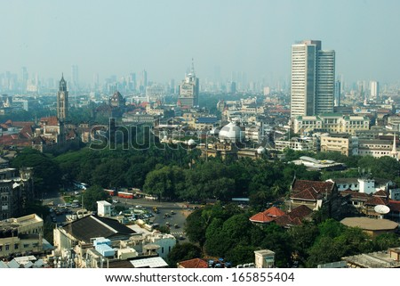 South Mumbai From Air - stock photo