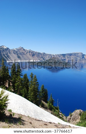 South Rim, Crater Lake National Park, Oregon - stock photo