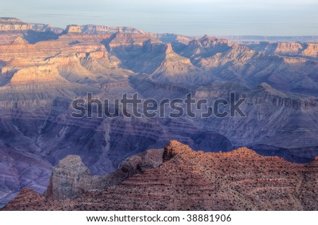 South Rim, Grand Canyon National Park shortly after sunrise, Arizona, USA