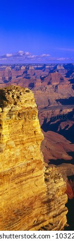 South Rim View Point, Grand Canyon, Arizona - stock photo