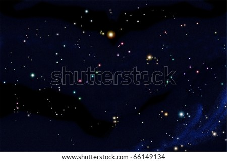 South sky star chart in october include 25 constellations arrange follow real position - stock photo