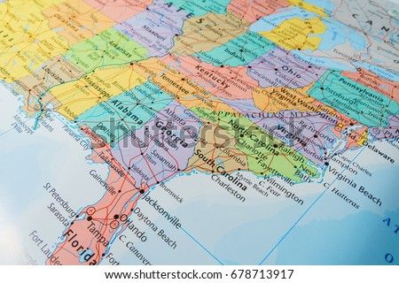 Us Road Map Stock Images RoyaltyFree Images Vectors Shutterstock - Us road map of states