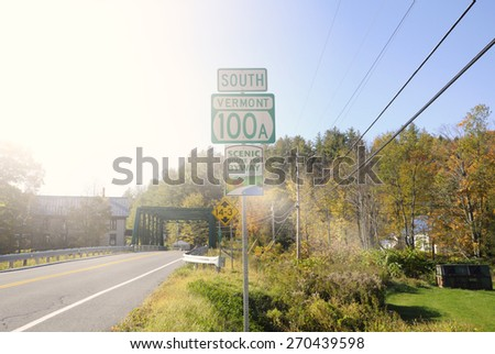 South Vermont road sign - stock photo