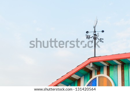 South&West Sign on the roof - stock photo