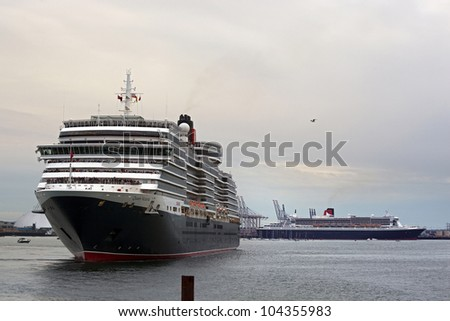 Southampton uk 5 june three queens stock photo 104355983 shutterstock southampton uk 5 june three queens cunard ships queen mary 2 m4hsunfo Images