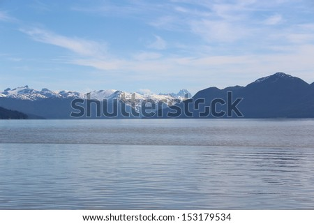 Southeastern Alaska Island Landscape - stock photo
