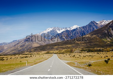 Southern Alps, New Zealand - stock photo