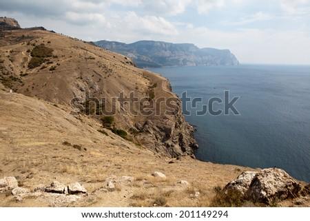 Southern coast of Crimea. Balaclava. Russia. - stock photo
