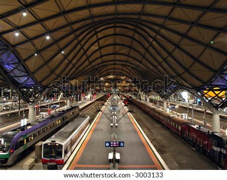 Southern Cross Station, Melbourne Australia - stock photo