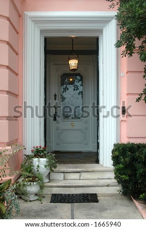 Southern historic district doorway