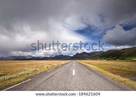 Southern Iceland./ Ring Road - stock photo