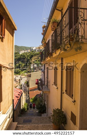 Southern Italy, Calabria, Scilla - historical town