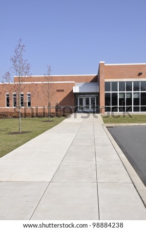 Southern Lehigh Intermediate school in Center Valley, Pennsylvania - stock photo