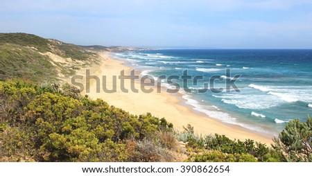 Southern Ocean, Portsea, Victoria, Australia - stock photo