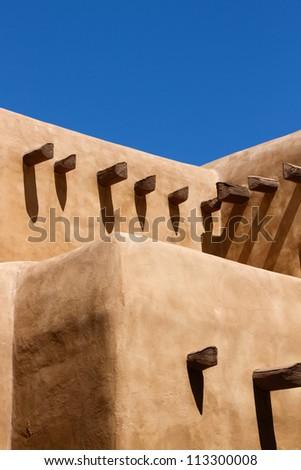 Southwestern Adobe House - stock photo
