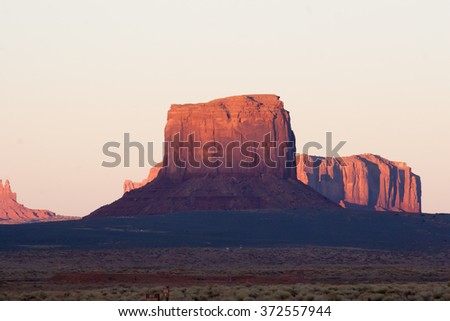 Southwestern landscape, from Monument Valley - stock photo