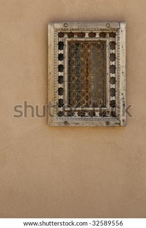 Southwestern pueblo style window frame - stock photo