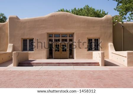 southwestern style architecture - stock photo