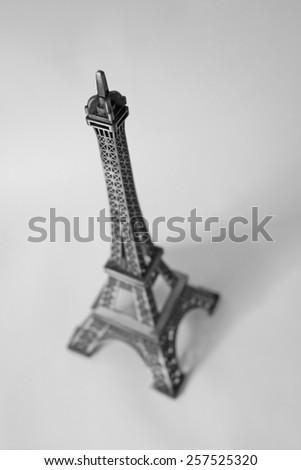 Souvenir of the Eiffel Tower in Paris. Tour eiffel miniature - stock photo