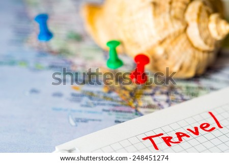 Souvenirs from travels - stock photo