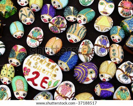 Souvenirs handmade - stock photo