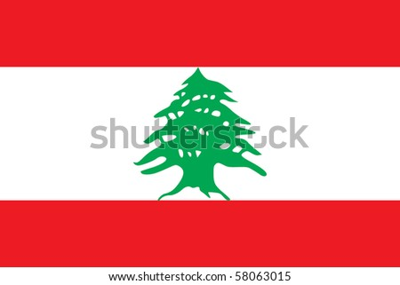 Sovereign state flag of country of Lebanon in official colors. - stock photo