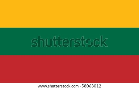 Sovereign state flag of country of Lithuania in official colors. - stock photo