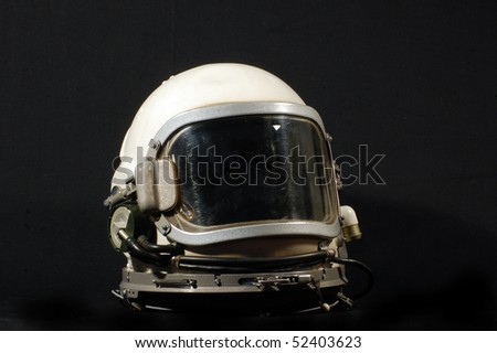 Soviet pilot military helmet - stock photo