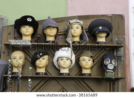 Soviet red army hats for sale as souvenir