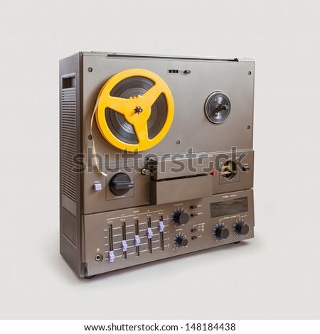 Soviet Retro audio tape recorder - stock photo