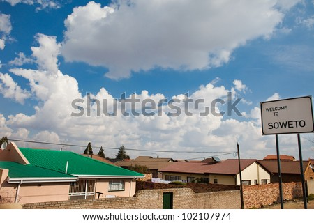Soweto, Johannesburg, site of the anti-apartheid Soweto Uprising - stock photo