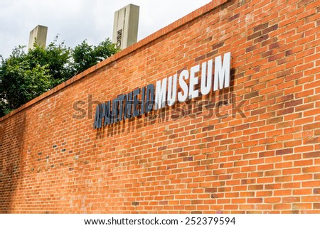 Soweto - South Africa, Jan 30: Apartheid museum pictured on January 30th, 2015 in Johannesburg ,South Africa.  SOWETO is the most populous urban area in the country. - stock photo